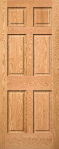 6 Panel Oak