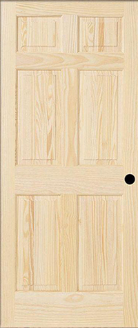 6 Panel Pine