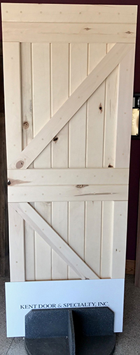 Knotty Aspen Barn Door