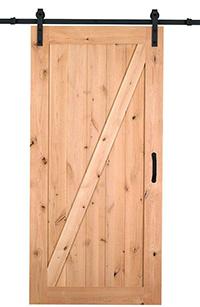 Knotty Pine Barn Door